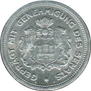 1/100 Verrechnungsmarke (Hamburg) – revers