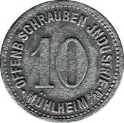 10 Pfennig (Mühlheim am Main) [Private, Hessen, Schrauben Industrie] – avers