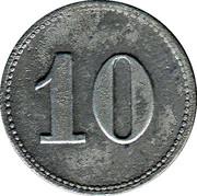 10 Pfennig (Mühlheim am Main) [Private, Hessen, Schrauben Industrie] – revers