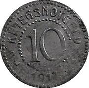 10 pfennig (Dillkreis) – revers