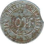 10 Pfennig (Bad Homburg vor der Huehe) – avers