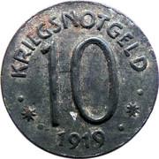 10 Pfennig (Hersfeld) [Stadt, Hessen-Nassau] – revers