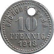 10 Pfennig (Bad Homburg vor der Höhe) [Stadt, Hessen-Nassau] – revers