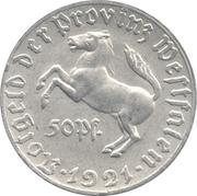 50 Pfennig (Westfalen; Freiherr vom Stein) – avers
