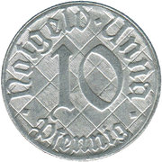 10 pfennig - Unna – avers
