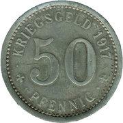 50 Pfennig (Menden) [Stadt, Westfalen] – revers