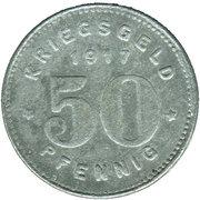 50 Pfennig (Witten) [Stadt, Westfalen] – revers