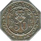 50 Pfennig (Hamm) [Stadt, Westfalen] – revers
