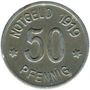 50 Pfennig (Lüdenscheid) [Stadt, Pfalz] – revers