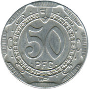50 Pfennig - Stadt Soest – revers