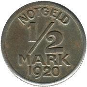 50 Pfennig (½ Mark) (Warendorf) [Stadt, Westfalen] – revers