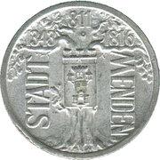 1 Million Mark (Menden) [Stadt, Westfalen] – avers