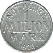 1 Million Mark (Menden) [Stadt, Westfalen] – revers