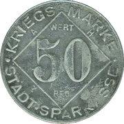 50 Pfennig (Bielefeld) [Private, Westfalen, Stadtsparkasse] – revers