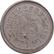 25 Pfennig (Burgsteinfurt) [Stadt, Westfalen] – revers