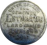 50 Pfennig (Letmathe) [Gemeinde, Westfalen] – avers