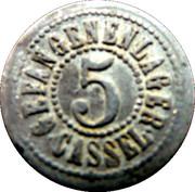 5 Pfennig Cassel (Hessen-Nassau) Germany CASSEL POW CAMP WWI – avers