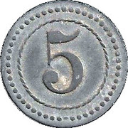 5 Pfennig (Cassel) [POW, Hessen-Nassau] – revers