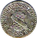 1 Pfennig (Cassel) – avers