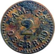 2 Pfennig (Oberrad) [Private, Hessen-Nassau, Familien-Verein] – avers