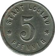 5 Pfennig (Loslau) [Stadt, Schlesien] – avers
