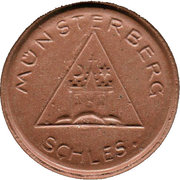 20 pfennig - Münsterberg – avers