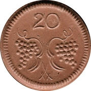 20 pfennig - Münsterberg – revers