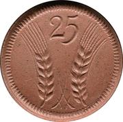 25 Pfennig (Münsterberg) [Stadt, Schlesien] – revers