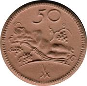 50 Pfennig (Münsterberg) [Stadt, Schlesien] – revers