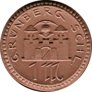 1 mark - Grünberg – avers