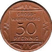 50 Pfennig (Gross-Wartenberg) [Landkreis, Niederschlesien] – avers