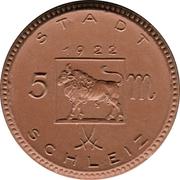5 Mark (Schleiz) [Stadt, Thuringia, Ruess Jüngere Linie] – avers