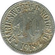 10 Pfennig (Marienwerder) [Stadt, Westpreußen] – avers
