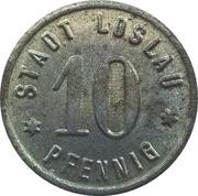 10 Pfennig (Loslau) [Stadt Schlesien] – avers