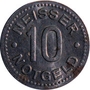 10 Pfennig (Neisse) [Stadt, Schlesien] – revers