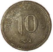 10 Pfennig Thorn Stadt (Westpreussen) – revers