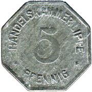 5 Pfennig (Lippe) [Handelskammer, Free State] -  avers