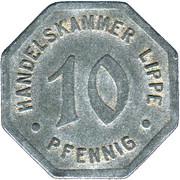 10 pfennig (Lippe) – avers