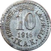 10 Pfennig Kriegsgefangenenlager IX A.K. Armee Korps Güstrow. POW CAMP – avers