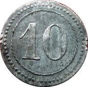 10 Pfennig Kriegsgefangenenlager IX A.K. Armee Korps Güstrow. POW CAMP – revers