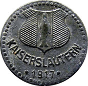 5 pfennig (Kaiserslautern) – avers