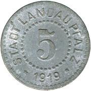 5 Pfennig (Landau) [Stadt, Pfalz] – avers