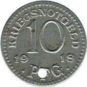 10 Pfennig (Rudolstadt) [Stadt, Schwarzburg-Rudolstadt] – revers