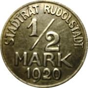 1/2 Mark Rudolstadt [Stadt, Schwarzburg-Rudolstadt] – avers