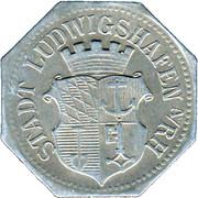 50 Pfennig (Ludwigshafen am Rhein) [Stadt, Pfalz] – avers