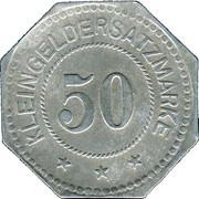 50 Pfennig (Ludwigshafen am Rhein) [Stadt, Pfalz] – revers