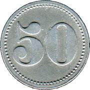 50 Pfennig (Albersweiler) [Private, Phalz, Zundholzfabrik] – revers