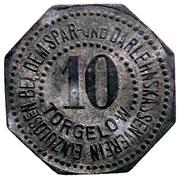 10 Pfennig (Torgelow) [Gemeinde, Pommern] – revers