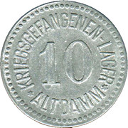 10 Pfennig (Altdamm) [POW, Pommern] – avers