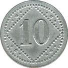 10 Pfennig (Altdamm) [POW, Pommern] – revers